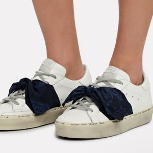 Golden Goose Hi Star White/Blue Bandana sz 40 NIB